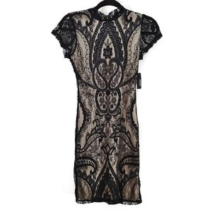 Ardene Lace Over Shift Dress XS NEW